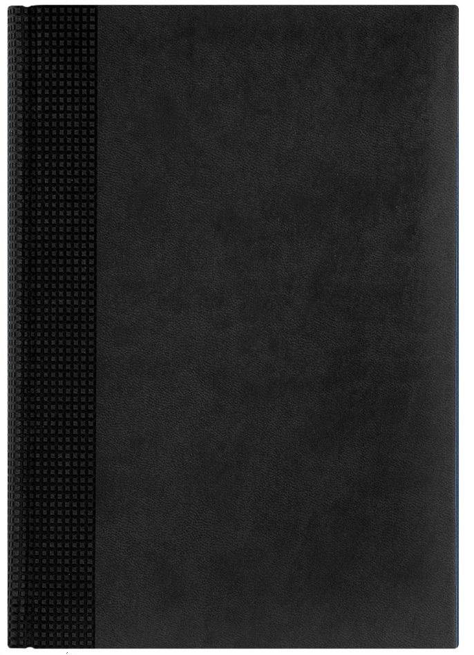 Nazarenogabrielli Ежедневник недатированный Velvet цвет черный XX05451220-090-ITXX05451220-090-ITГладкий, матовый материал с основой под нубук. Общий цветовой фон ровный, слегка проступает мельчайший «кожаный» рисунок на полтона светлее. Обложка декорирована вертикальным рельефным орнаментом в форме шашечек.