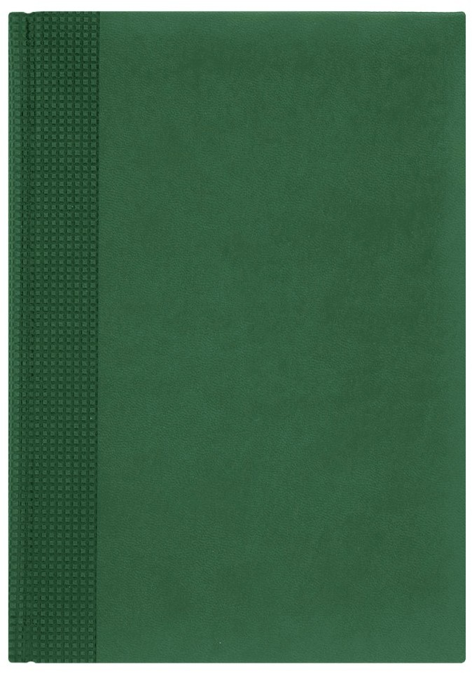 Nazarenogabrielli Ежедневник недатированный Velvet цвет зеленыйXX05451220-141Гладкий, матовый материал с основой под нубук. Общий цветовой фон ровный, слегка проступает мельчайший «кожаный» рисунок на полтона светлее. Обложка декорирована вертикальным рельефным орнаментом в форме шашечек.