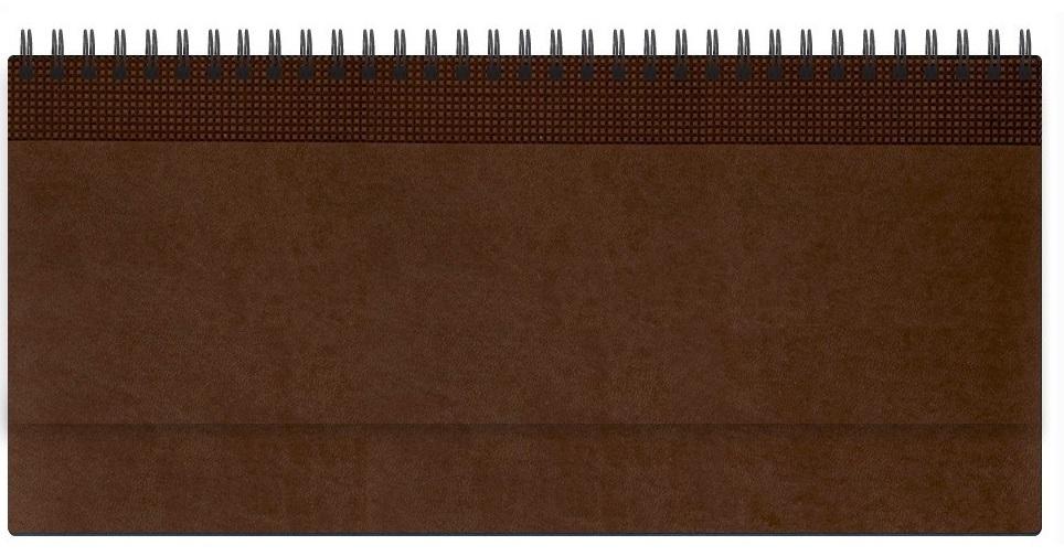 Nazarenogabrielli Планинг недатированный Velvet цвет коричневый XX05496810-120-ITXX05496810-120-ITГладкий, матовый материал с основой под нубук. Общий цветовой фон ровный, слегка проступает мельчайший «кожаный» рисунок на полтона светлее. Обложка декорирована вертикальным рельефным орнаментом в форме шашечек.