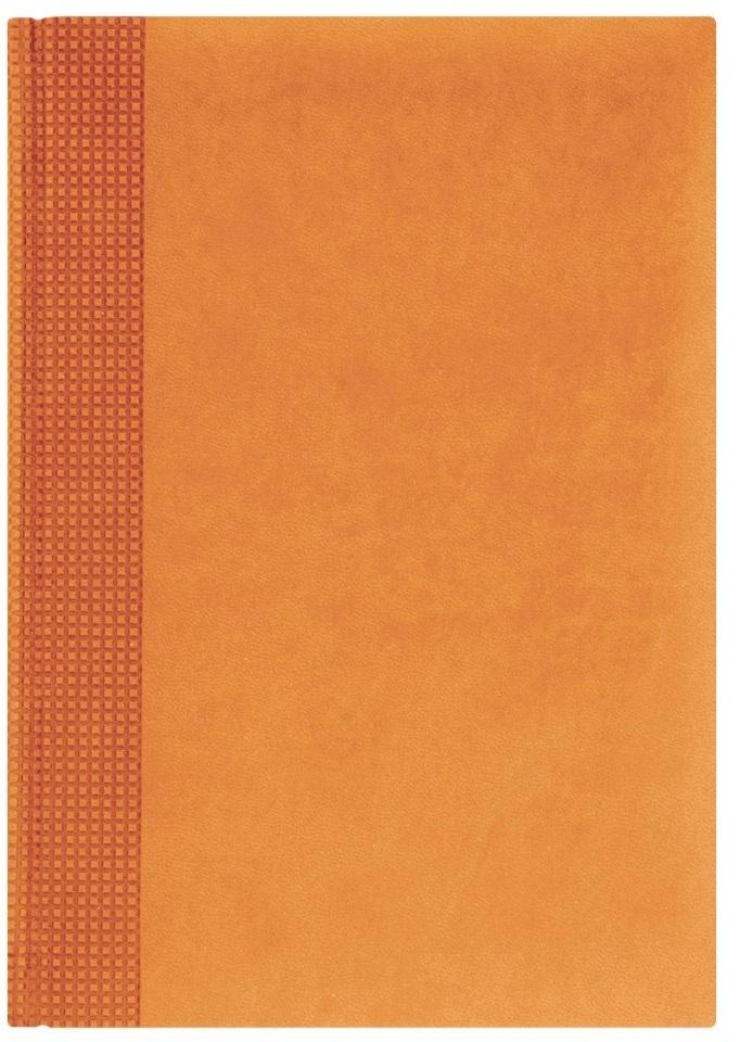 Nazarenogabrielli Ежедневник недатированный Velvet цвет оранжевый XX05451220-430XX05451220-430Гладкий, матовый материал с основой под нубук. Общий цветовой фон ровный, слегка проступает мельчайший «кожаный» рисунок на полтона светлее. Обложка декорирована вертикальным рельефным орнаментом в форме шашечек.
