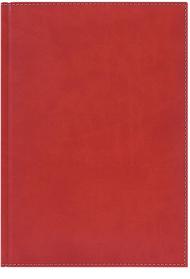 Nazarenogabrielli Ежедневник недатированный Portland цвет красный XX0545226I-060XX0545226I-060В фактуре мягкой матовой обложки под кожу просматривается вертикальный рисунок слегка жатой кожи. Его можно ощутить при контакте. Есть светлая отстрочка по периметру. Срез ежедневника – золотой. Предпочтение отдано гамме естественных природных оттенков, включая два вида очень ярких. В цветовой линейке – густые, темные тона.