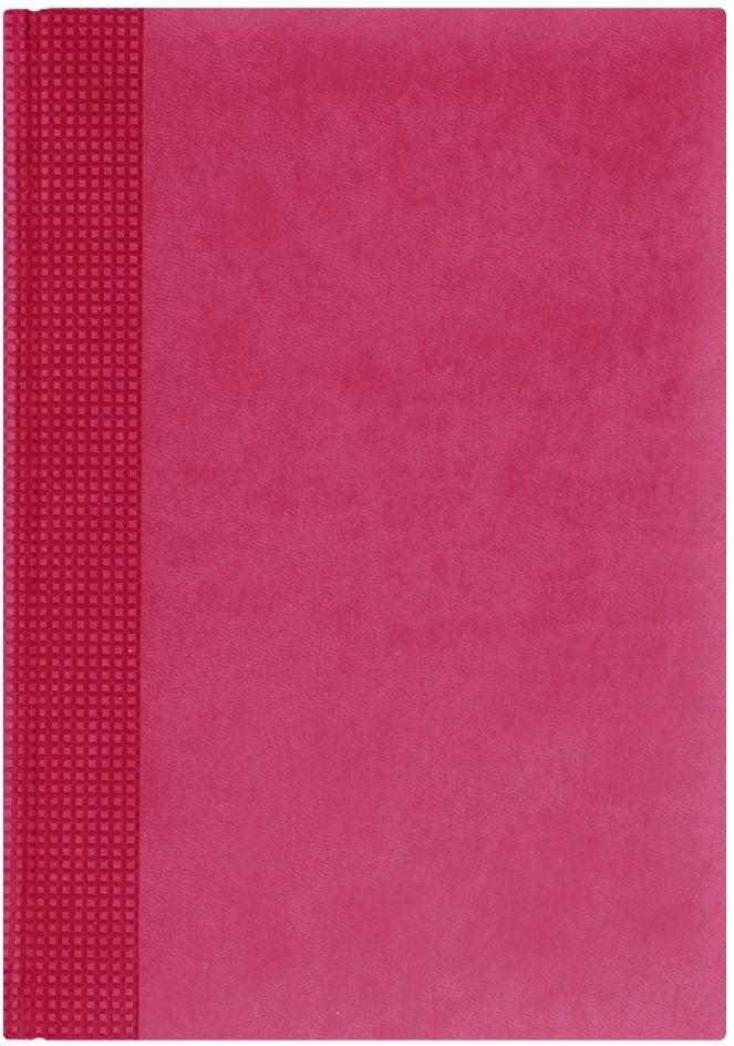 Nazarenogabrielli Ежедневник недатированный Velvet цвет коралловый XX05451220-330XX05451220-330Гладкий, матовый материал с основой под нубук. Общий цветовой фон ровный, слегка проступает мельчайший «кожаный» рисунок на полтона светлее. Обложка декорирована вертикальным рельефным орнаментом в форме шашечек.
