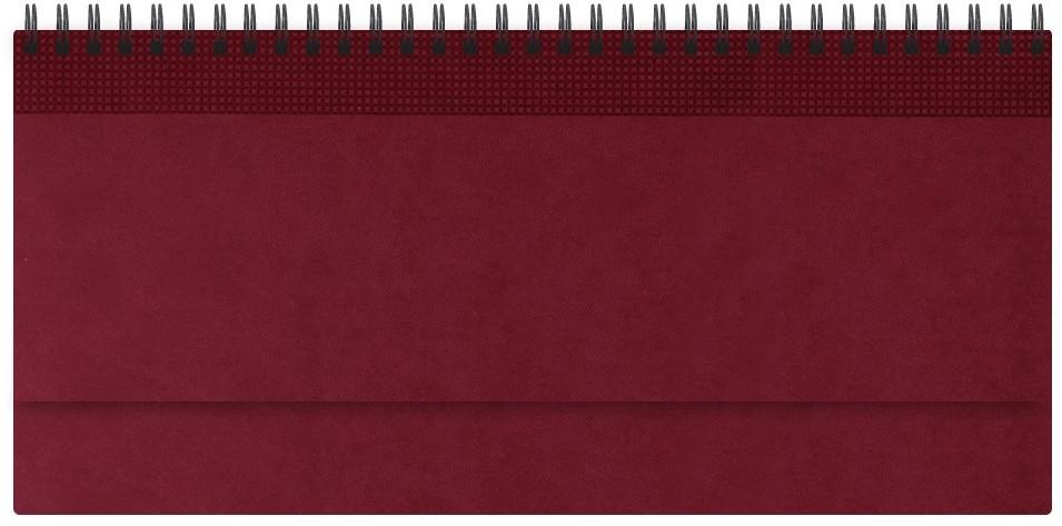 Nazarenogabrielli Планинг недатированный Velvet цвет бордовыйXX05496810-420Гладкий, матовый материал с основой под нубук. Общий цветовой фон ровный, слегка проступает мельчайший «кожаный» рисунок на полтона светлее. Обложка декорирована вертикальным рельефным орнаментом в форме шашечек.