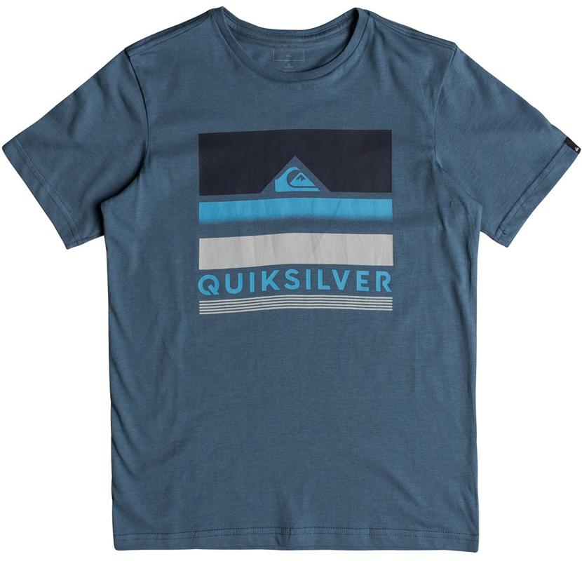 Футболка для мальчика Quiksilver, цвет: синий. EQBZT03681-BPR0. Размер 128/134EQBZT03681-BPR0