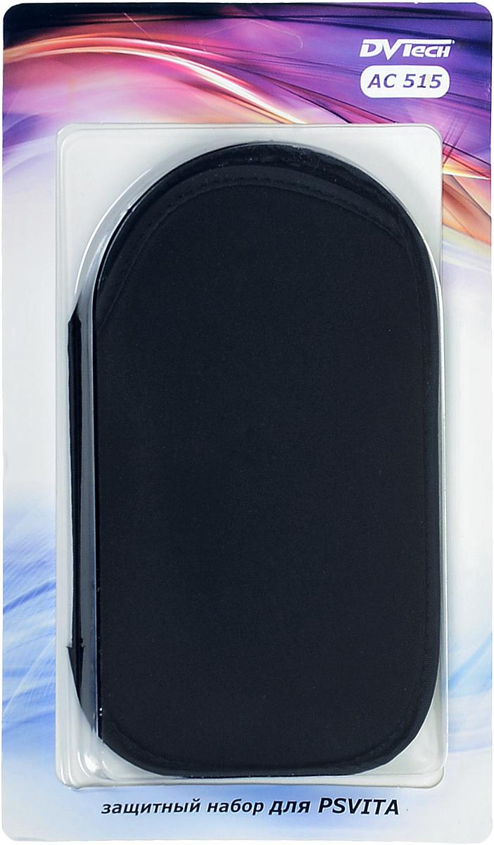 Защитный набор DVTech AC 515 для PS VitaSPC9003BLKМягкий чехол надежно защитит Вашу PS Vita от ударов, царапин и других повреждений.Защитная пленка эффективно защитит экран PS Vita от отпечатков пальцев и пыли.