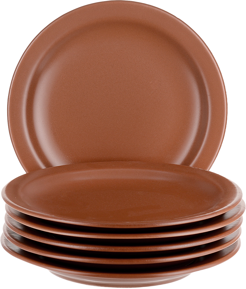 Набор тарелок обеденных Biona Терракота, 26 см, 6 шт набор суповых тарелок biona май 22 см 6 шт