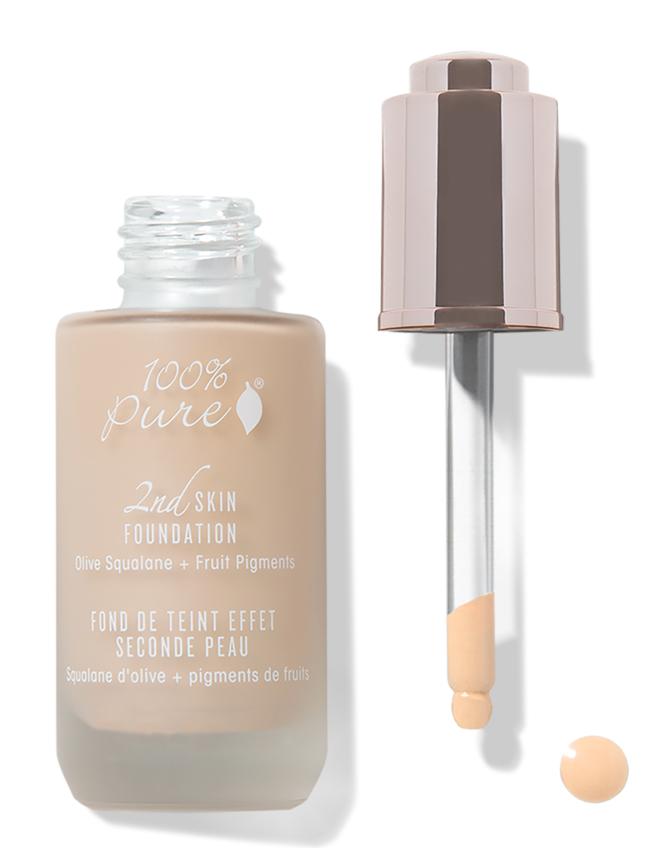 100% Pure Тональная основа Вторая кожа, тон №1, 35 мл1C2SFS1Основу сыворотки составляют: сквален, полученный из оливок; омолаживающие антиоксиданты, чистые фруктовые пигменты и витамины. Обеспечивает натуральное и регулируемое вами покрытие кожи лица. Комплексная формула придаёт вашему лицу здоровый, молодой и роскошный вид