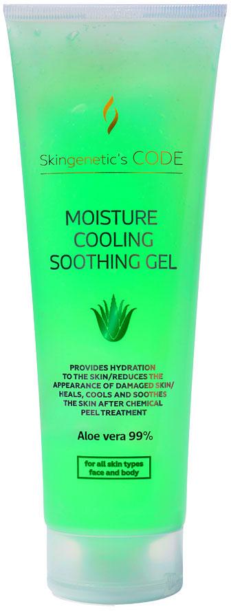 Skingenetic's CODE Алоэ гель Aloe Vera 99% Moisture Cooling Soothing Gel, 250 мл сок алоэ вера aloe vera juice goodcare 500 мл
