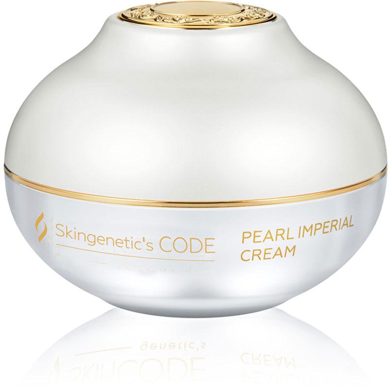 Skingenetics CODE Питательный крем с экстрактом жемчуга Pearl Imperial Cream, 50 мл3701175100119Насыщенный питательный крем с экстрактом жемчуга улучшает текстуру, активно противостоит провисанию кожи, усиливает эластичность. Органический кремний и инкапсулироанный витаминный комплекс эффективно восстанавливают здоровый вид и сияние, разглаживает морщины, стимулируя естественное обновление клеток. Экстракт жемчуга - восстанавливает, поддерживает, увеличивает энергию выработки аденозинтрифосфата (АТФ), стимулирует восстановление ДНК клеток, активизирует вялую, уставшую кожу, увлажняет и питает, придает коже свежесть, упругость, эластичность, шелковистость и здоровый румянец. Органический кремний и экстракт гамамелиса укрепляет структуру кожи, снижает процесс окисления, разглаживает глубокие и тонкие морщины, предотвращает старение кожи. Idealift пептидный комплекс, действующий против провисания кожи, усиливает сопротивление кожи гравитации. Комплекс Lipomoist интенсивно и глубоко увлажняет, стимулирует выработку глюкозаминогликанов, защищает от преждевременного старения.