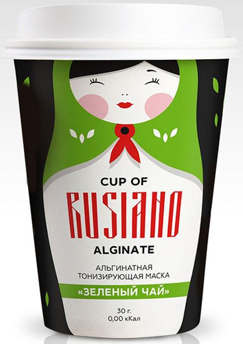 Cup of Rusiano Alginate Альгинатная тонизирующая маска Зеленый чай, 30 г4665302250025Маска состоит из набора, в который входит: альгинатная маска в пакетике (порошок), шапочка для фиксации волос, спатула для нанесения маски на лицо. Альгинатная маска с тонизирующим эффектом повышает упругость кожи, выравнивает тон, придает естественное сияние, борется с расширенными порами, черными точками и жирным блеском на коже. Применение: Развести порошок в количестве 30 мл в 90 мл воды температурой не выше 20 градусов. Перемешать до консистенции густой сметаны и быстро нанести слоем толщиной 2-3 мм на лицо. Через 15-20 минут снять маску одним движением снизу вверх. Рекомендуется курсовое применение (10-15 масок), три раза в неделю.