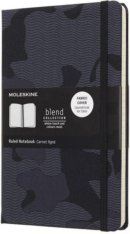 Moleskine Блокнот Blend 120 листов в линейку цвет серый черныйLCBD03QP060CAMOAЗаписная книжка Classic сочетается с коллекцией Nomad. Текстиль урбанистических цветов, дарящий приятные тактильные ощущения, украшает четыре записных книжки, которые пробуждают чувства и приглашают вас создать собственную городскую историю на пустых страницах. Каждая текстильная обложка отличается неповторимым камуфляжным узором, лента-закладка и эластичная застежка подобраны в тон. От нежно-зеленого, черного и серого до ярко-оранжевого и броского синего: выбирайте оттенки, которые сочетаются с вашим рюкзаком Nomad и подходят к вашему городскому стилю.- Твердая обложка из ткани - Закругленные углы - Эластичная застежка- Фирменная бумага Moleskine цвета слоновой кости - Лента-закладка в тон- Бумага: 70г/м2, бескислотная, цвета слоновой кости, в линейку - Надпись In case of loss на форзаце - Расширяемый внутренний кармашек сзади - Сторона в многоразовой бумажной ленты с дополнительными печатными инструментами - Плоская, открывается на 180°- Внутри история Moleskine