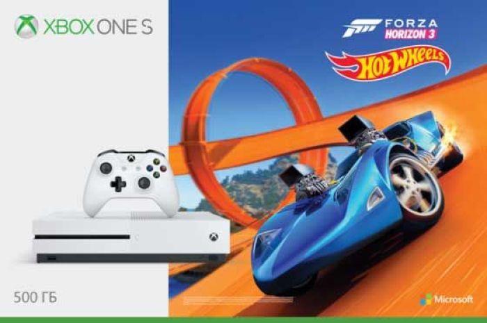 Игровая приставка Xbox One S 500 ГБ + Forza Horizon 3 + Карточка Steep + NHL 16 купить nhl 10 на xbox