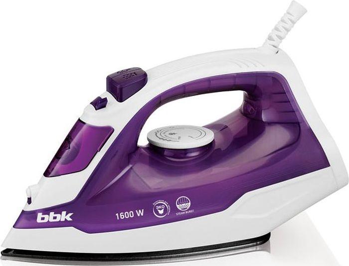 BBK ISE-1601, Lilac утюгISE-1601 сирен CМощность 1600 Вт, паровой удар, вертикальное отпаривание, плавные регулировки подачи пара и температуры, керамическое покрытие подошвы, Anti-calcium.