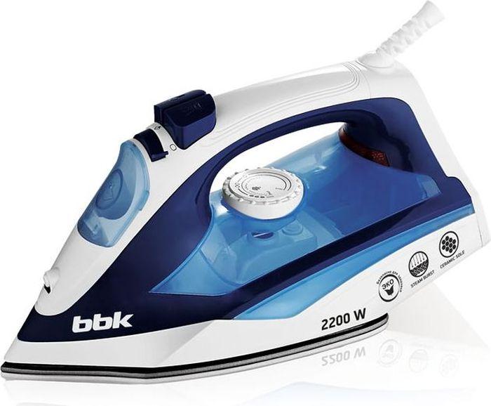 BBK ISE-2201, Dark Blue утюгISE-2201 т-синий CМощность 2200 Вт, паровой удар, вертикальное отпаривание, плавные регулировки подачи пара и температуры, керамическое покрытие подошвы, Anti-calcium, Self-Cleaning.