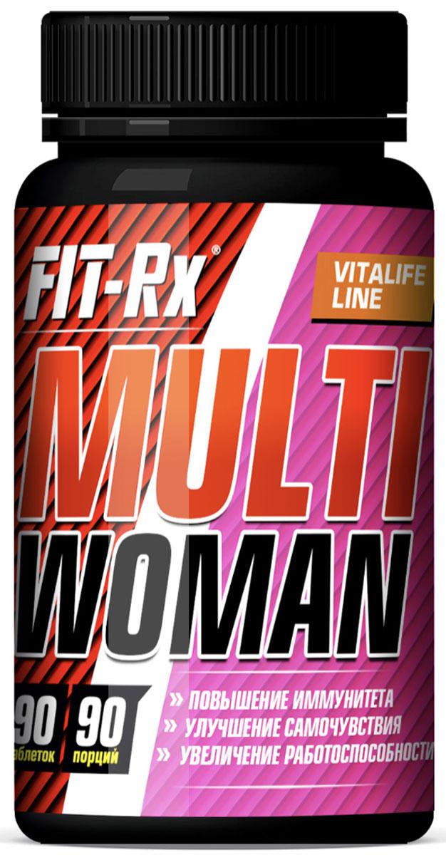 Стимулирует синтез клеток иммунной системы, препятствует стрессам, улучшает самочувствие и работоспособность. Multi Woman - это  сбалансированный высокоэффективный витаминно-минеральный комплекс, включающий в себя полный набор витаминов и минералов,  необходимых женскому организму. Multi Woman - это исключительно натуральная формула, содержащая хелатированные минералы. Большинство витаминов не синтезируются в организме человека, поэтому они должны регулярно и в достаточном количестве поступать в  организм с пищей или в виде витаминно-минеральных комплексов и пищевых добавок. Без достаточного количества в организме минералов и витаминов ухудшается самочувствие, присутствует упадок сил, падает работоспособность,  нарушается течение биологических процессов. Особенно важен приём витаминно-минеральных комплексов при активном образе жизни и занятиях спортом, так как нагрузки увеличиваются и  зачастую витаминов и минералов, поступивших в организм с обычной пищей, катастрофически не хватает для поддержания иммунной системы в  здоровом состоянии.  -Активизирует противовирусную защиту организма - Нормализует биологические процессы в организме - Активизирует физическую и умственную деятельность - Снижает уровень холестерина в крови - Ускоряет энергетический и липидный обмен в организме - Стимулирует ЦНС, сердечнососудистую и иммунную системы. В одной порции (1 таблетка) содержится: Калий 5,6 мг; Натрий 1,6 мг; Магний 22,7 мг; Кальций 83,5 мг; Фосфор 66 мг; Цинк 5,3 мг; Железо 0,76  мг; Йод 47,5 мкг; Хрома пиколинат (в т.ч. Хром)  10 мкг (1,2 мкг); Селен 8,75 мкг. Витамины: С 14 мг, Е 3,5 мг, В1 0,48 мг, В2 0,45 мг, В6 0,62 мг, В12 0,28 мкг, фолиевая к-та (витамин В9) 94 мкг, биотин (витамин В7)  35,1 мкг, А  0,5 мг, ниацин 4 мг, пантотеновая кислота (витамин В5) 2,7 мг, D3 1,5 мкг. Состав: Дикальций фосфат, микрокристаллическая целлюлоза, мальтодекстрин, премикс витаминный (Витамин С, ниацин, Витамин Е,  пантотеновая кислота, Витамин В6, Витамин В1, Витамин В2, фолиевая кислот