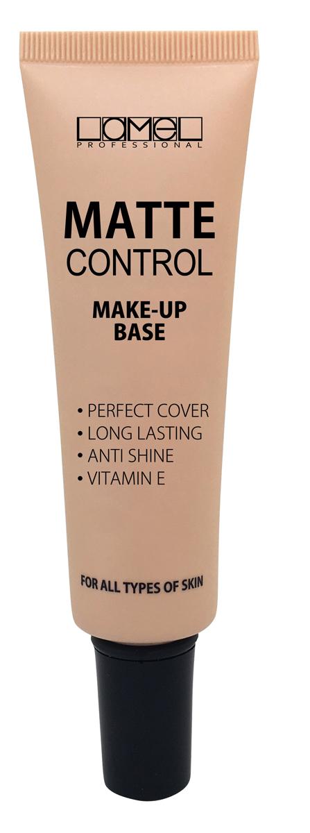 Lamel Professional Тональный крем для лица Matt Control 01, 30 мл5060522580638Тональный крем на водной основе. Благодаря безмаслянной формуле, крем не создает ощущения тяжести на лице, прекрасно распределяется по коже, не забиваясь в морщинках.Содержит увлажняющие компоненты, которые ухаживают за кожей. Благодаря содержанию в составе витамина Е, тональный крем Matt Control поддерживает здоровье кожи, защищает ее.Новая сверхстойкая формула сохраняет эффект на коже на протяжении 12 часов.Благодаря матирующим свойствам, тональная основа поможет избавиться от неприятного блеска на лице, создавая матовый, ровный тон лица. Подходит для всех типов кожи.