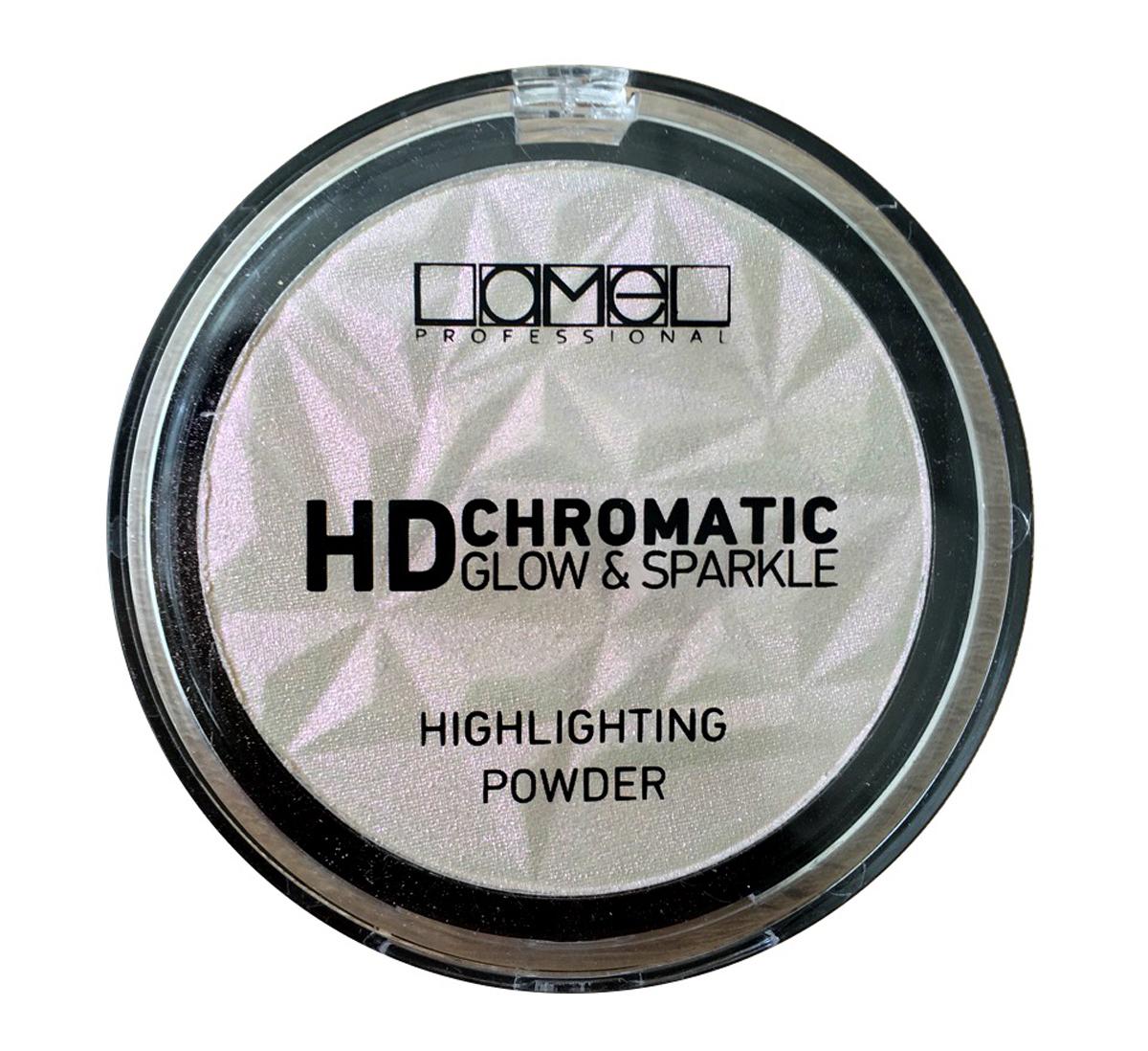 Lamel Professional Пудра-хайлайтер для лица HD Chromatic 1025060522580829Фантастическое сияние кожи! Хайлайтер с хроматическим сиянием от Lamel Professional дает коже не просто однотонное сияние, а волшебный перелив. Эффект от хроматического хайлайтера заметен при любом освещении. Это возможно благодаря крайне мелкому помолу (значительно мельче, чем у обычного хайлайтера). Хроматическая пудра создает на коже модный эффект металлик. Рекомендуется использовать совместно с тональной основой и праймером Lamel Professional.