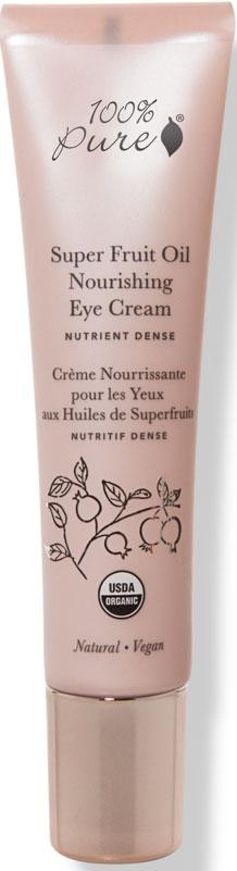 100% Pure Органический крем для глаз с питательными экстрактами супер фруктов, 15 мл