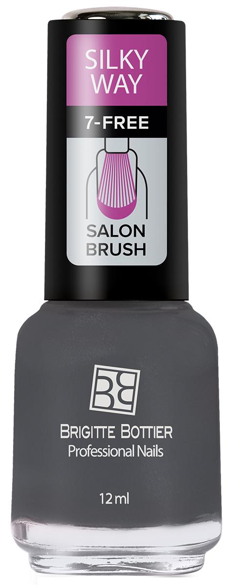 Brigitte Bottier лак для ногтей Silky Way тон 561 графит, 12 млBB-SW 561Лак Silky Way после полного высыхания приобретает неповторимую матовую поверхность с текстурой, напоминающей яркие, струящиеся натуральные шелка с их утонченной, мягкой игрой света.