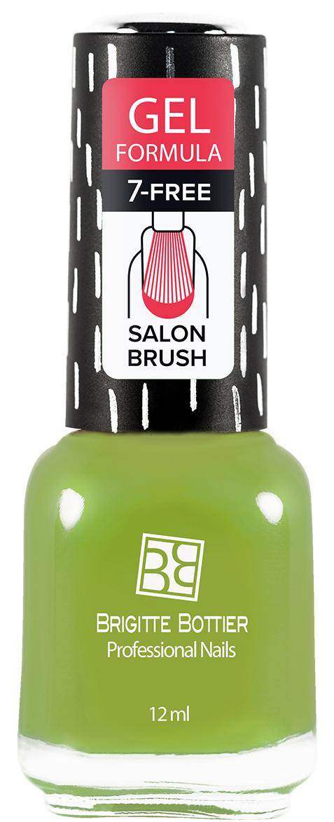 Brigitte Bottier лак для ногтей гелевый GF тон 62 сочный зеленый, 12 мл