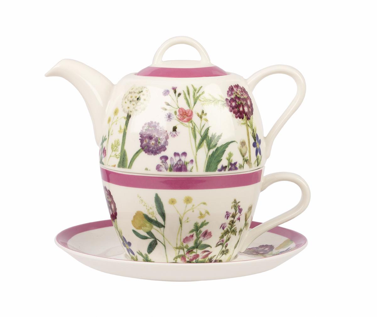 Набор чайный Churchill Гималайские цветы, 3 предмета набор чайный churchill пляжный отдых 3 предмета