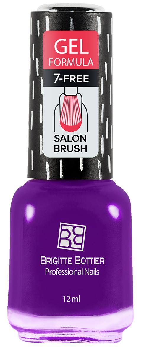 Brigitte Bottier лак для ногтей гелевый GF тон 71 фиолетово-баклажановый, 12 мл