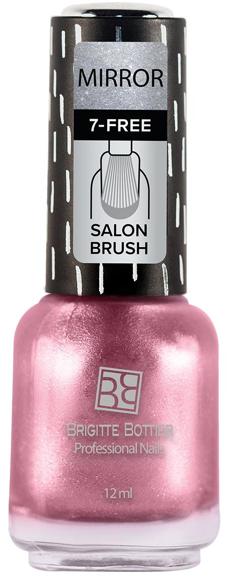 Brigitte Bottier лак для ногтей Зеркальный тон 03 розовый, 12 мл