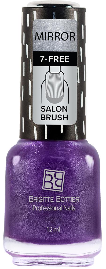 Brigitte Bottier лак для ногтей Зеркальный тон 06 фиолетовый, 12 мл