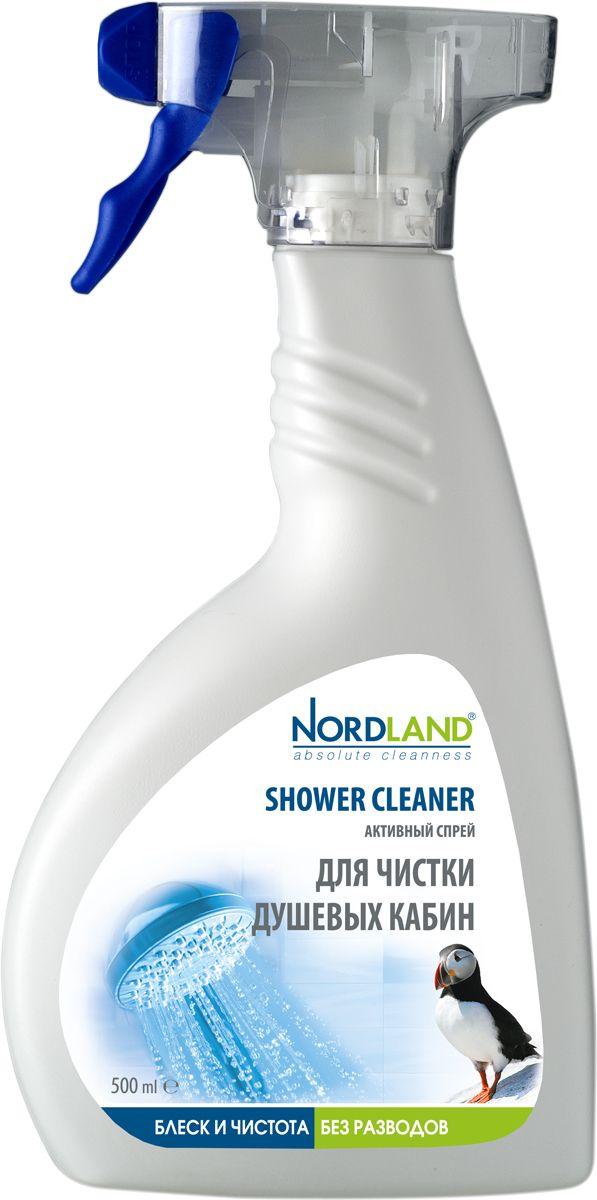 Активный спрей для чистки душевых кабин Nordland, 500 мл бытовая хими�� nordland активный спрей для чистки кухни 500 мл