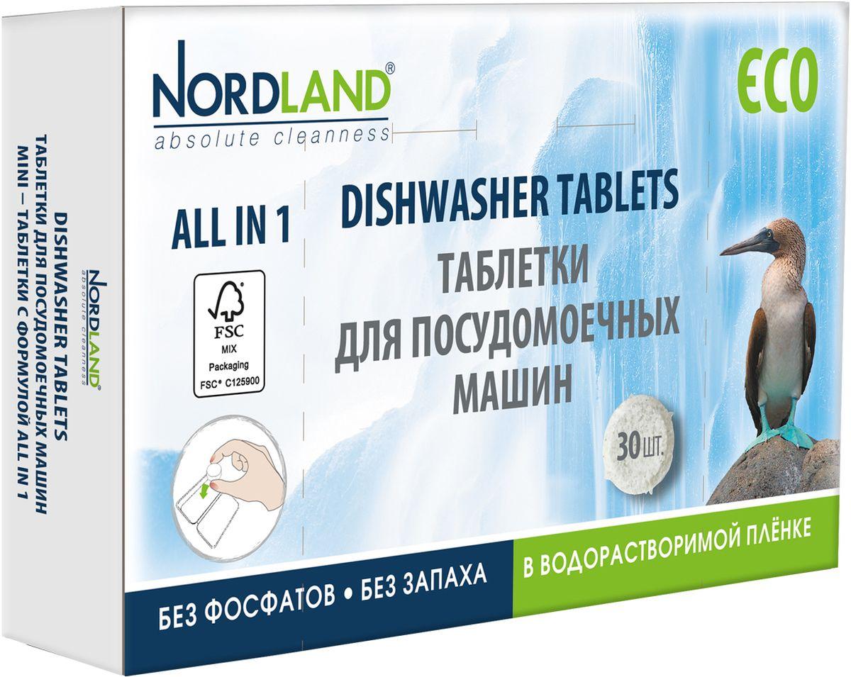 Таблетки для посудомоечных машин Nordland, 30 шт х 14 г соль для посудомоечных машин snowter 1 5 кг