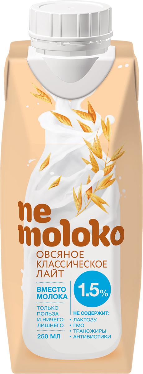 Nemoloko напиток овсяный, обогащенный кальцием и витамином В2, 1,5%, 0,25 л хлебная смесь овсяный хлеб
