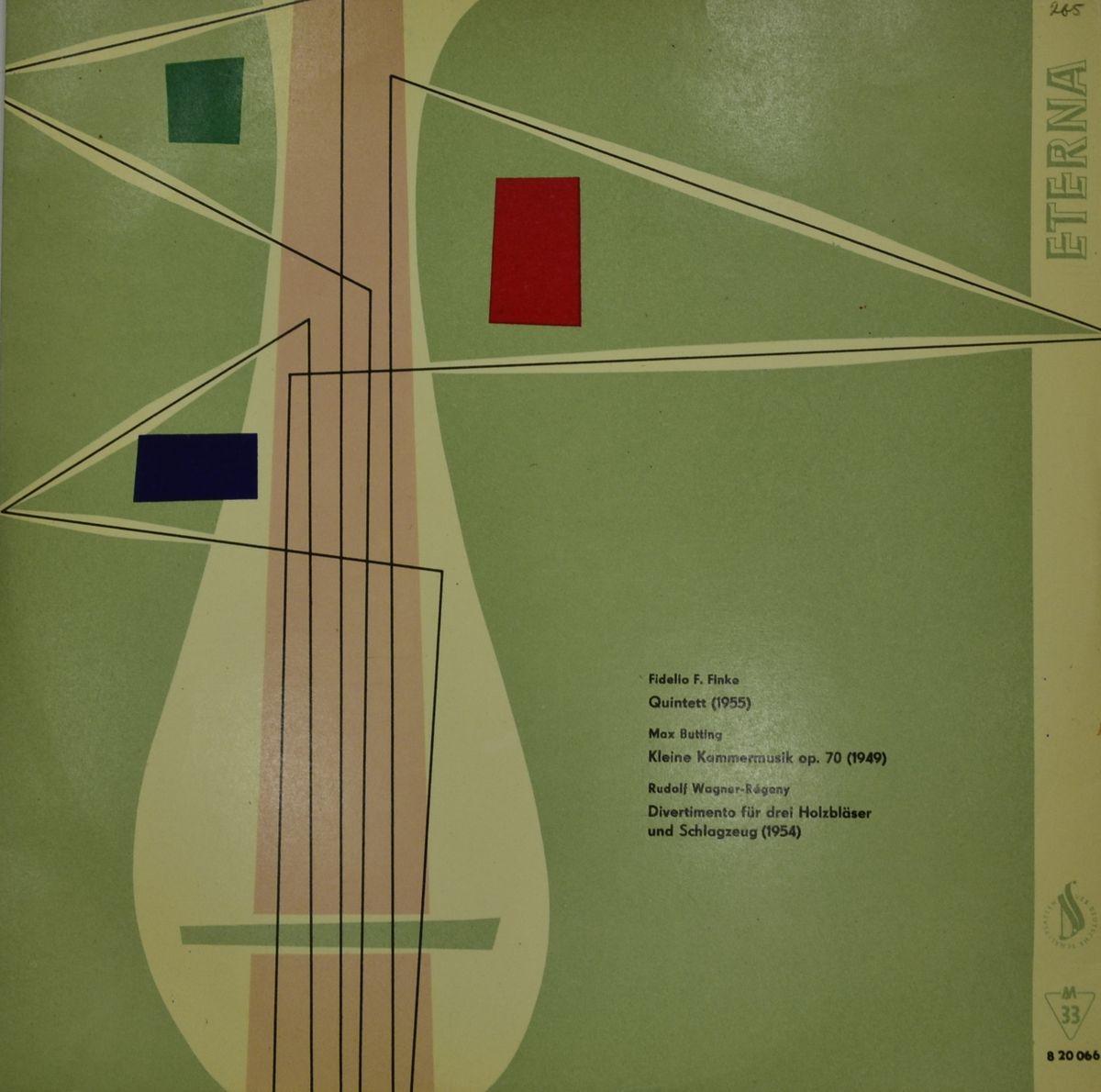 Fidelio F. Finke / Max Butting / Rudolf Wagner-Regeny – Quintet / Kleine Kammermusik Op.70 / Divertimento Fur Drei Holzblaser Und Schlagzeug (LP)
