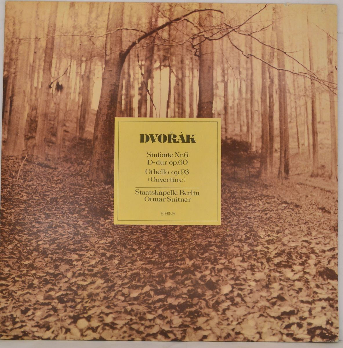 Dvorak, Otmar Suitner, Staatskapelle Berlin – Sinfonie Nr. 6 D-dur Op. 60 / Othello Op. 93 (Ouverture) (LP)