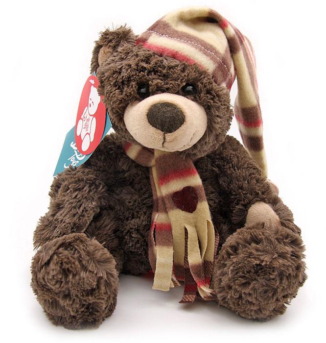 Magic Bear Toys Мягкая игрушка Мишка Джаспер в шапке и шарфе 23 см magic bear toys мягкая игрушка медведь с заплатками в шарфе цвет коричневый 120 см