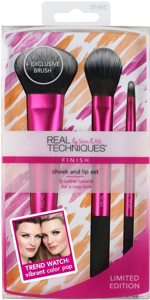 Real Techniques Набор кистей для макияжа щек и губ Cheek&Lip Brush Set кисти для макияжа brush set 32pcs pincel maquiagem professional 32 pcs makeup brushes set