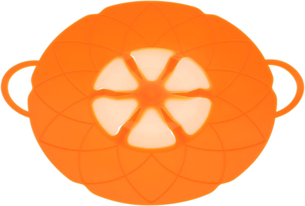 Крышка-невыкипайка Доляна Актеон, цвет: оранжевый, 26 см1045256_оранжевыйКрышка-невыкипайка Доляна Актеон изготовлена из термостойкого силикона высокого качества, поэтому не теряет формы при воздействии высоких температур. Изделие предотвращает выкипание, защищает мебель и плиту от брызг масла при жарке продуктов, следовательно, ваша кухня всегда будет в чистоте. Крышку также можно использовать для приготовления пищи на пару.Можно мыть в посудомоечной машине, использовать в СВЧ и в холодильнике.При хранении в прохладных местах крышка обеспечит свежесть продуктов. При использовании крышки в микроволновой печи масло не разбрызгивается.