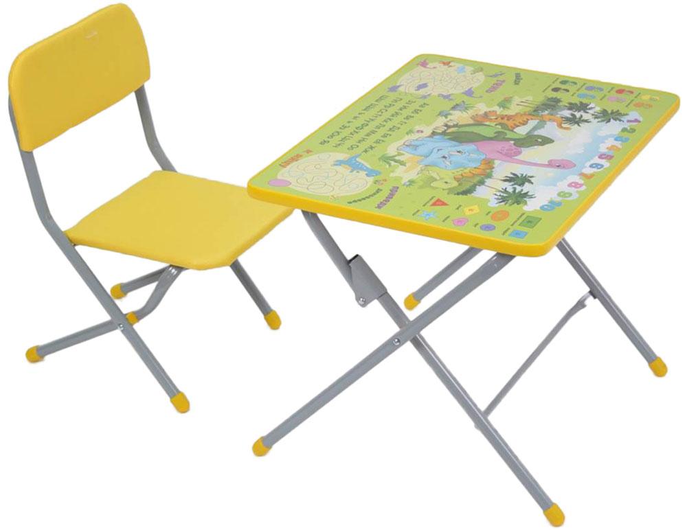 Габариты и вес Размеры (ДхШхВ) стульчик – 27,6 х 25 х 50 см, столик - 45 х 60 х 46 Вес - 7,5 кг - предназначен для кормления, игр и обучения ребенка, - столешница - ЛДСП с цветной наклейкой, - легкий, мобильный, складной.