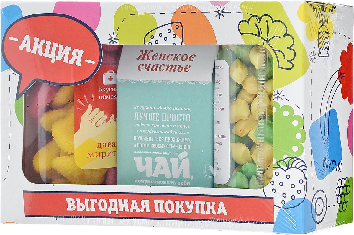 Вкусная помощь Подарочный набор Выгодная покупка, жевательный мармелад, напиток чайный, леденцовая карамель бумба крутые виражи жевательный мармелад 105 г