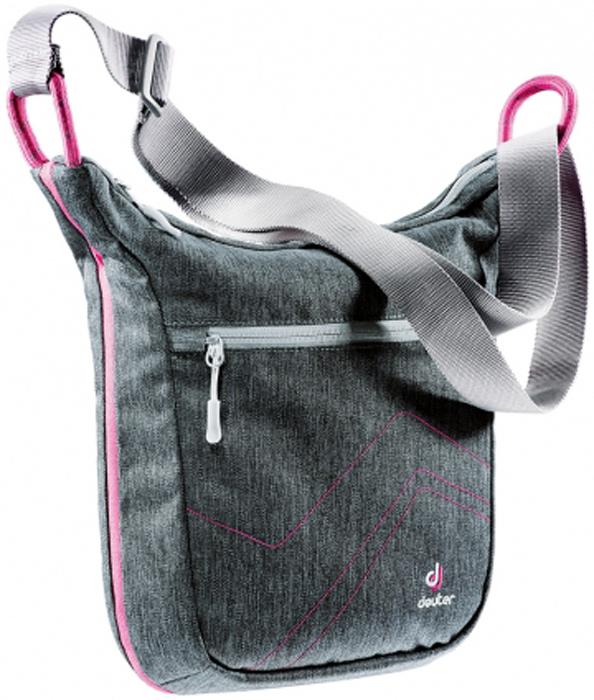 Deuter Сумка Pannier City цвет серый розовый85134-7511Pannier City предназначена для городских приключений.• передний карман на молнии • удобное внутреннее устройство • регулируемый плечевой ремень Материал: Super-Polytex /