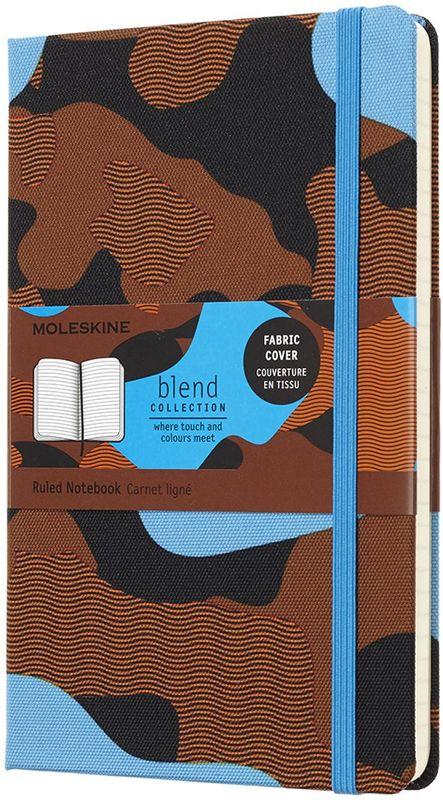 Moleskine Блокнот Blend 120 листов в линейку цвет голубой оранжевый черныйLCBD03QP060CAMOC2Записная книжка Classic сочетается с коллекцией Nomad. Текстиль урбанистических цветов, дарящий приятные тактильные ощущения, украшает четыре записных книжки, которые пробуждают чувства и приглашают вас создать собственную городскую историю на пустых страницах. Каждая текстильная обложка отличается неповторимым камуфляжным узором, лента-закладка и эластичная застежка подобраны в тон. От нежно-зеленого, черного и серого до ярко-оранжевого и броского синего: выбирайте оттенки, которые сочетаются с вашим рюкзаком Nomad и подходят к вашему городскому стилю.- Твердая обложка из ткани - Закругленные углы - Эластичная застежка- Фирменная бумага Moleskine цвета слоновой кости - Лента-закладка в тон- Бумага: 70г/м2, бескислотная, цвета слоновой кости, в линейку - Надпись In case of loss на форзаце - Расширяемый внутренний кармашек сзади - Сторона в многоразовой бумажной ленты с дополнительными печатными инструментами - Плоская, открывается на 180°- Внутри история Moleskine