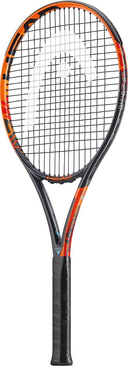 Ракетка теннисная HEAD IG Challenge MP, цвет: оранжевый, ручка 3233536Графитовая любительская ракетка, обеспечивающая мощные удары и кручение. Размер головы 645см2, вес 270 гр.