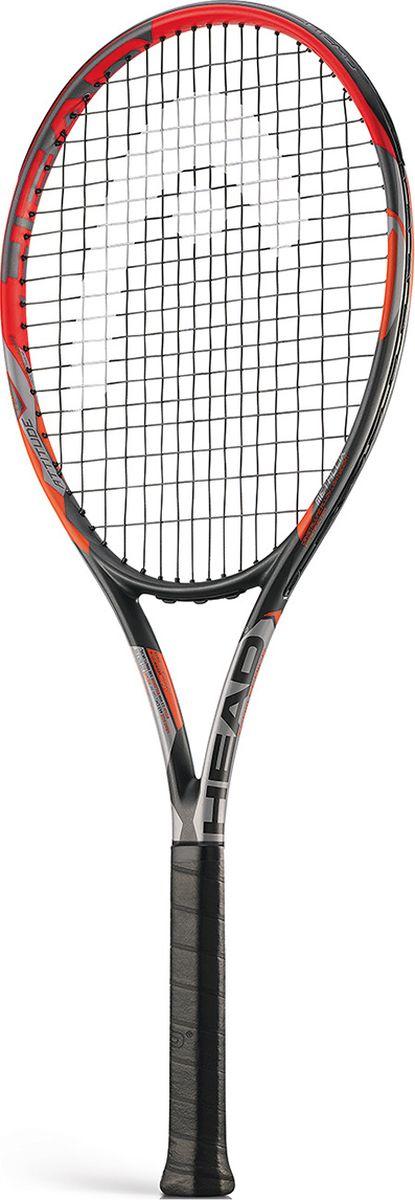 Ракетка теннисная HEAD MX Attitude Tour, цвет: оранжевый, ручка 4