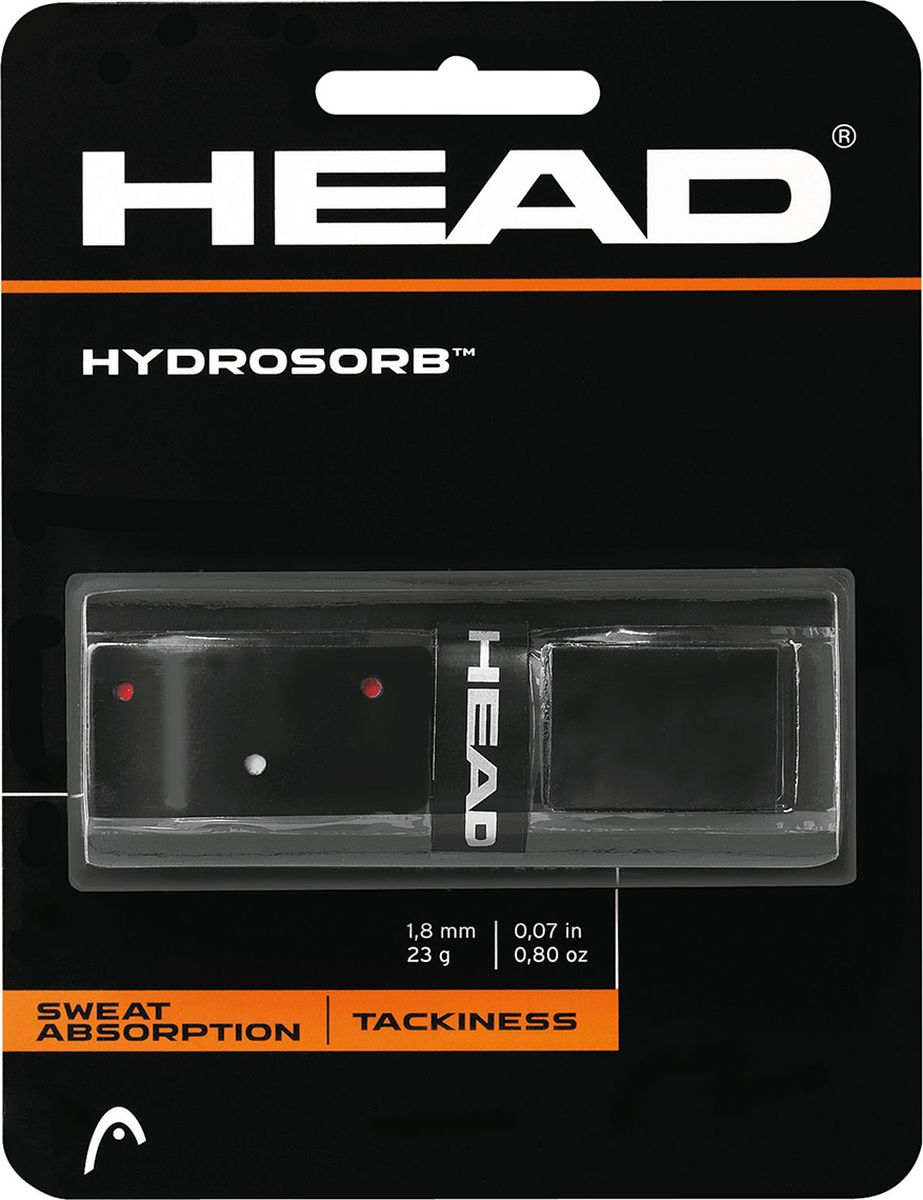 Намотки базовые HEAD HydroSorb, цвет: черный, красный285014Базовая намотка с перфорацией. Перфорированная поверхность обепечивает оптимальное впитывание пота и крепкий захват. Толщина 1.8 мм.