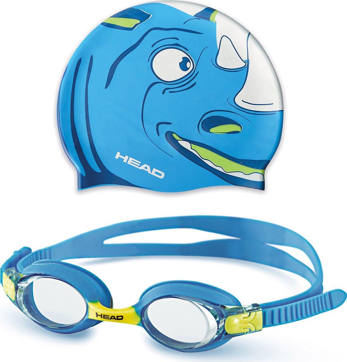 Детский набор для плавания HEAD Meteor Character, цвет: синий451020-BLBLЯркий детский набор HEAD Meteor Character привлечет внимание любого юного пловца. Набордля плавания включает в себя шапочку и очки.Шапочка выполнена из силикона, и оформлена ярким принтом.Плотное прилегание очков и комфорт обеспечиваются силиконовыми наглазниками.Силиконовый ремешок можно регулировать по размеру.