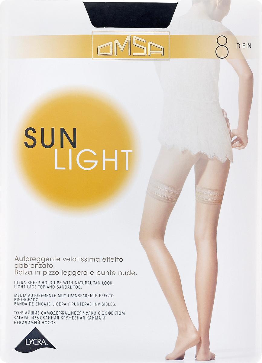 Чулки Omsa Sun Light 8 Aut, цвет: Nero (черный). SNL-093989. Размер 4 чулки omsa malizia размер 2 плотность 20 den nero