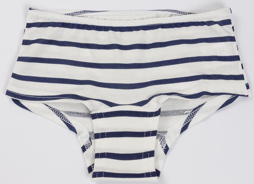 Трусы для девочки Mark Formelle, цвет: белый, синий. 50-1682-0. Размер 116/122 брюки для дома женские mark formelle цвет синий 151 2 532254 размер 50