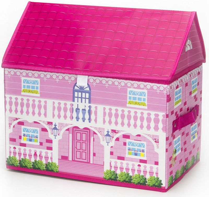 """Складной кофр-короб """"Vetta"""" в виде домика отлично подойдет для детской комнаты маленькой принцессы. В нем удобно разместятся все игрушки. Изделие выполнено из ПВХ."""