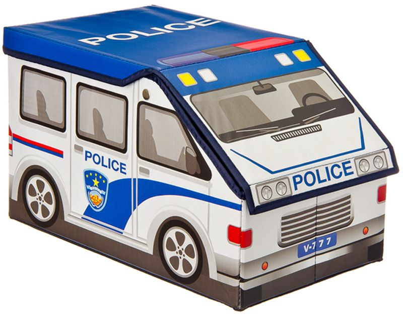 Кофр-короб для хранения Vetta Полицейская машина, складной, 40 х 23 х 23 см