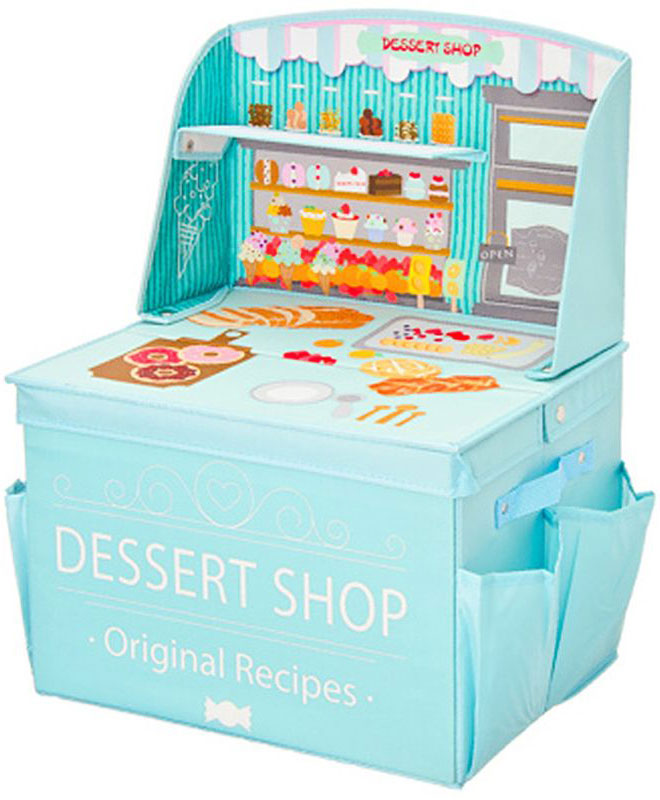 Кофр-короб для хранения Vetta Магазин, складной, 40 х 30 х 28 см457353Складной кофр-короб необычного дизайна отлично подойдет для детской комнаты. В нем удобно разместятся все игрушки малыша. А необычный дизайн обязательно будет оценен малышом.
