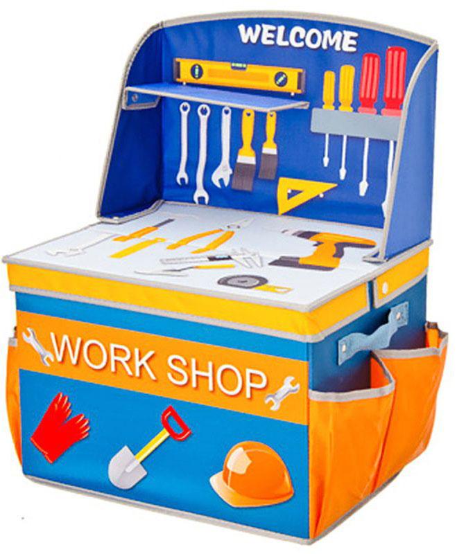 """Складной кофр-короб """"Vetta"""" необычного дизайна отлично подойдет для детской комнаты. Выполнне из ПВХ. В нем удобно разместятся все игрушки для мальчика."""